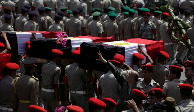 Funeral for Egyptian soldiers killed in Sinai attack