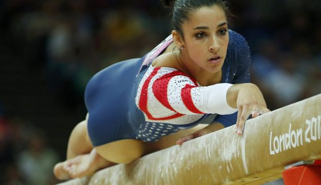 Alexandra Raisman of the U.S. competes in the women's gymnastics balance beam final during Olympics