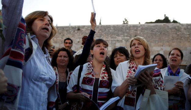 Members of Women of the Wall at the Western Wall in Jerusalem, May 10, 2013.