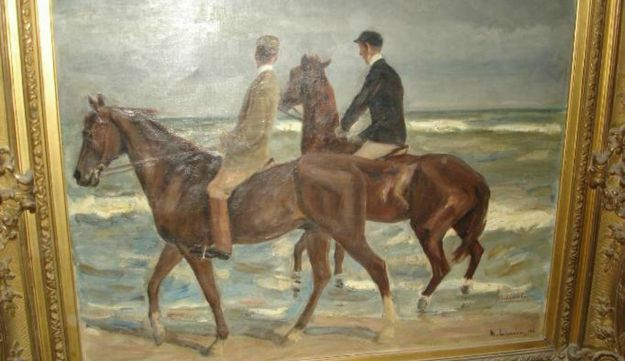 """""""Two Riders on the Beach"""" by Max Liebermann"""