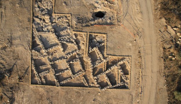 Aerial photograph of 2,300-year-old village