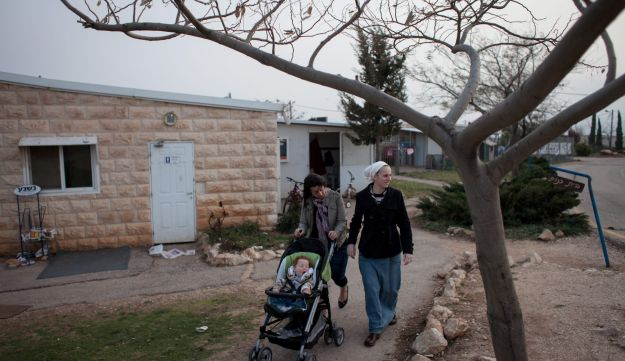 Buildings in the West Bank Settlement of Migron.