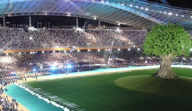 Opening ceremony of the Summer Paralympic Games in Athens, September 2004.