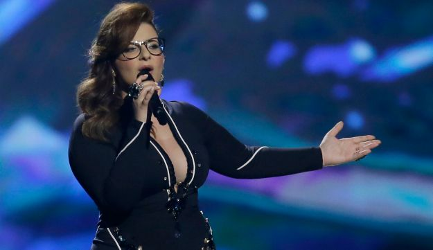 Moran Mazor, Israel's 2013 Eurovision contestant, performing in Malmo. Wednesday, May 15, 2013.