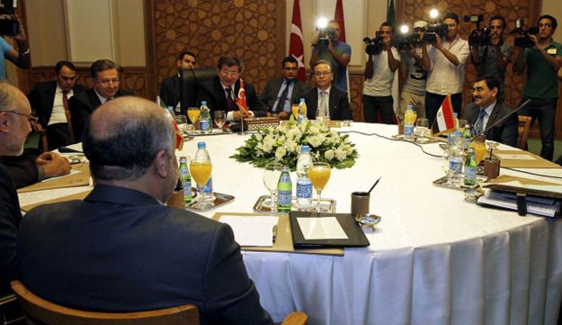 Foreign ministers from three of the four-nation 'Islamic Quartet' gather for the first time