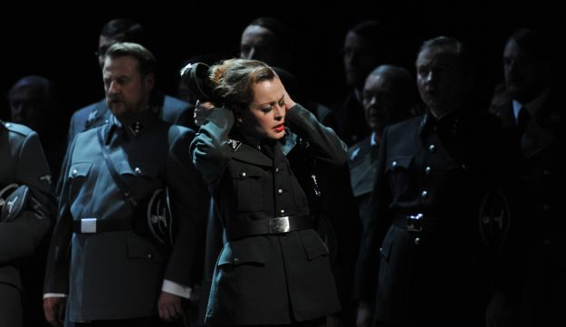 A scene of the opera 'Tannhaeuser' during a dress rehearsal in western Germany, April 30, 2013.