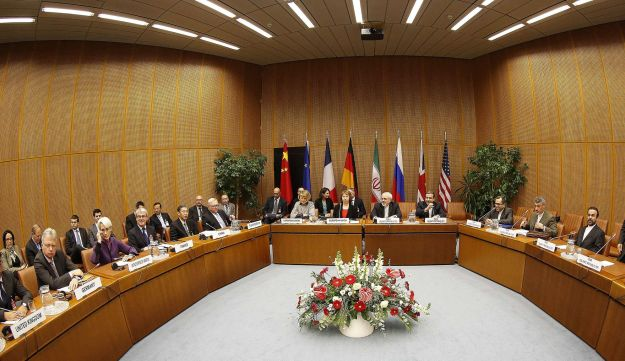 Six world powers holds nuclear talks with Iran at the UN headquarters in Vienna, Austria