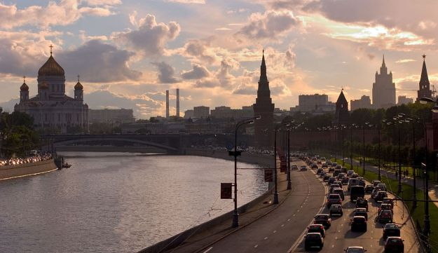 A view of the Russian capital, Moscow.