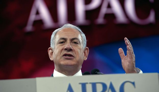 Netanyahu addresses the AIPAC policy conference in Washington, DC. March 4, 2014.