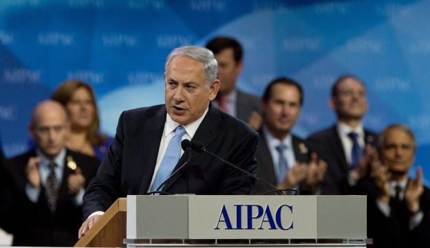 Netanyahu finishes his address at the AIPAC policy conference in Washington. March 4, 2014.