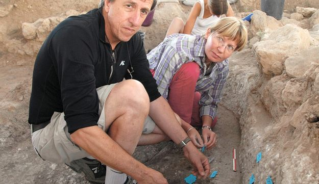 An archaeological dig in Tel Tzafit