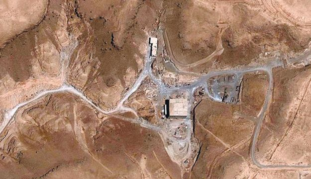 The site of the Syrian reactor, before the attack.
