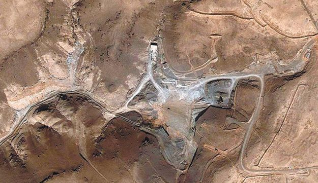 The site of the Syrian reactor, after the attack.