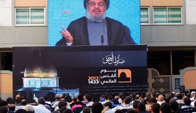 Nasrallah speaking in Beirut