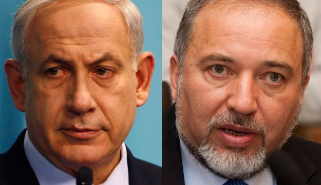 Netanyahu and Lieberman - Reuters and Olivier Fitoussi