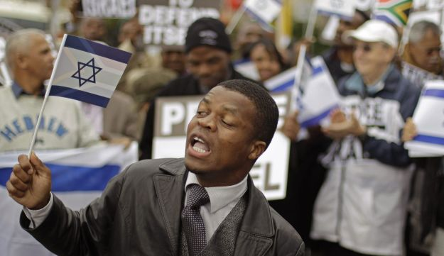 Protest again support of Israel in Cape Town
