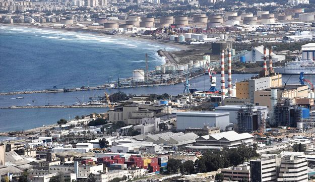 A view of Haifa Bay, which is home to much of Israel's heavy industry.