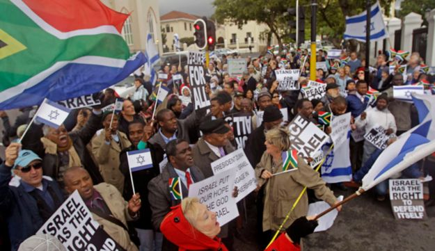 Protest against the proposal, Cape Town, South Africa, June 29, 2012.