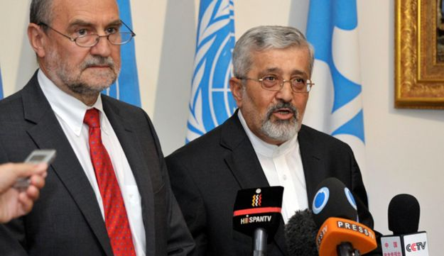 Iran and IAEA envoys after talks in Vienna, August 24, 2012.