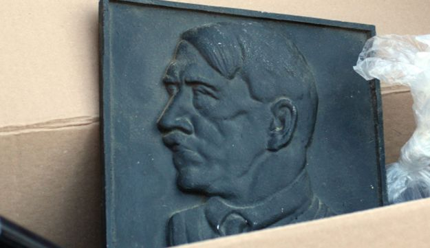 A representation of Adolf Hitler, found in Juelich, Germany, on Aug. 23, 2012.