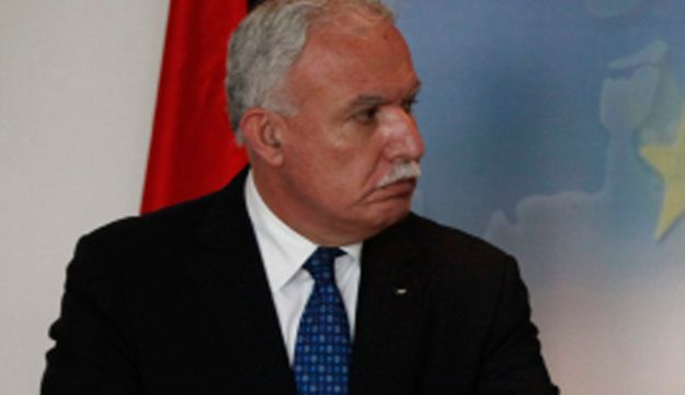 Palestinian Foreign Minister Riad Malki during a press conference in Nicosia, Cyprus