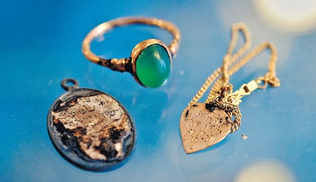 Personal items uncovered in Kovno's VII Fort in Lithuania.