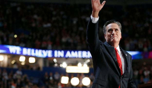 Mitt Romney at the Republican National Convention, August 31, 2012.