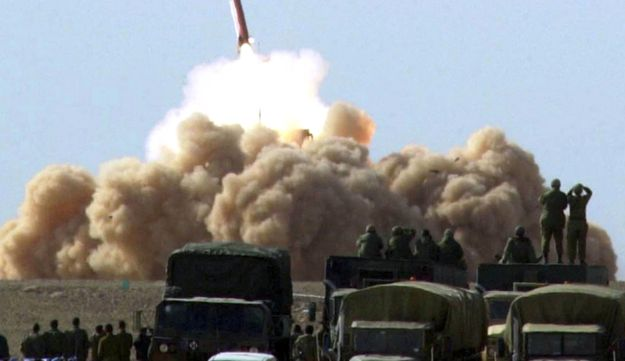Patriot missile launched in the Negev desert