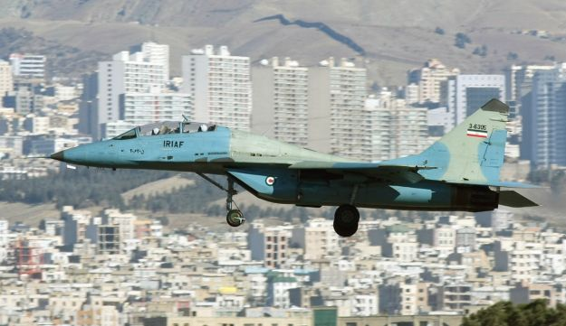 A MiG-29UB of the Islamic Republic of Iran Air Force in 2011