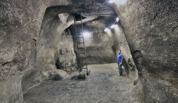 The cistern uncovered in Jerusalem.