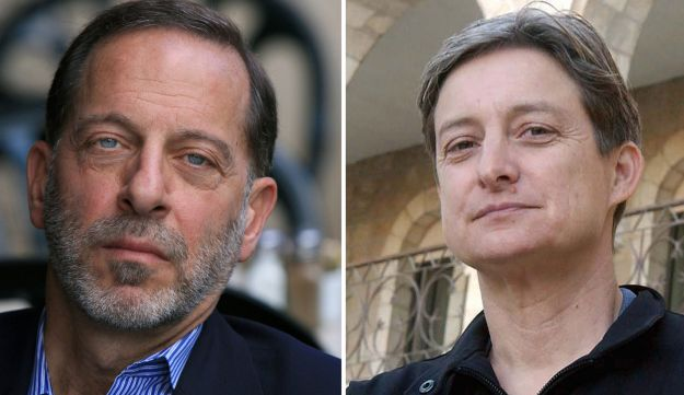 Rashid Khalidi, left, and Judith Butler, right.