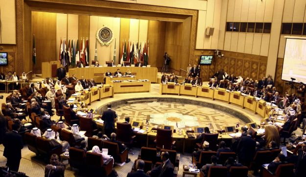 Arab Foreign Ministers meet at the Arab League building in Cairo