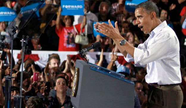 President Barack Obama speaks at a campaign event Saturday, Sept. 8, 2012, in Kissimmee, Fla.