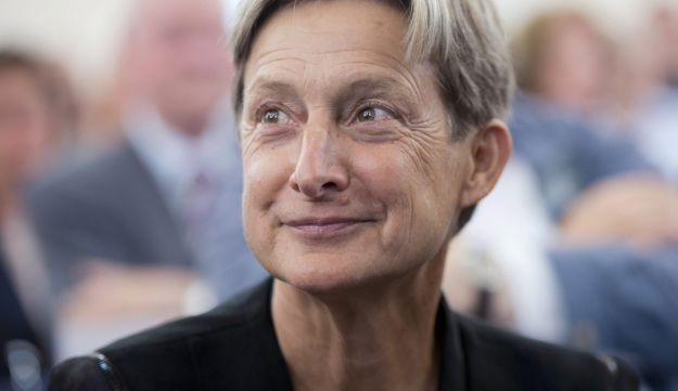 U.S. philosopher Judith Butler smiles before she received the Theodor-W.-Adorno award