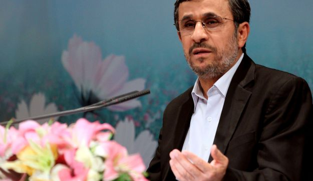 Iranian President Mahmoud Ahmadinejad holds a press conference - AFP - October 2, 2012.
