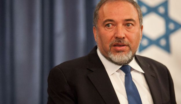Foreign Minister Avigdor Lieberman at a Foreign Ministry reception.