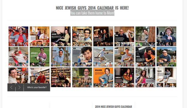 A screen shot of the 'Nice Jewish Guys' website.