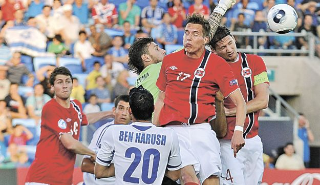 Action from Israel's opening game at the Euro 2013 Under-21 Championship in Netanya