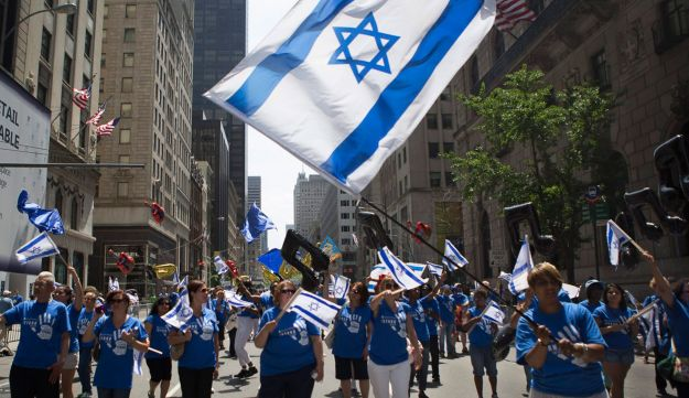 The Israel Day Parade makes its way up New York's Fifth Ave., Sunday June 2, 2013