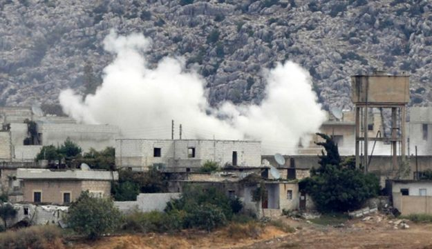 Clashes between the Syrian Army and rebels near Syria-Turkey border - Reuters- October 11, 2012.