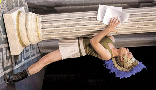 """Tomer Sharon in """"Lysistrata"""": Sometimes a pillar is just a pillar - and sometimes it isn't"""