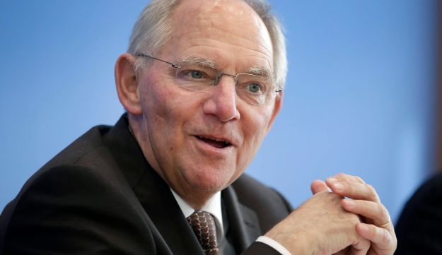 German Finance Minister Wolfgang Schaeuble speaks during a budget conference in Berlin
