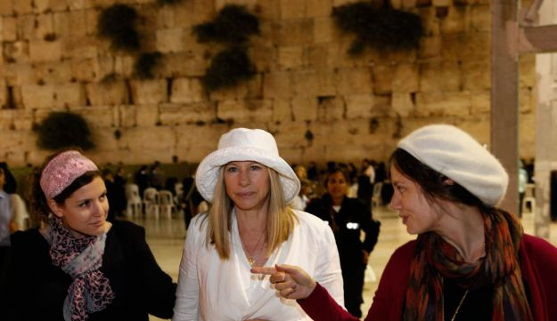 Barbra Streisand visits the Western Wall, Judaism holiest site in Jerusalem's Old City