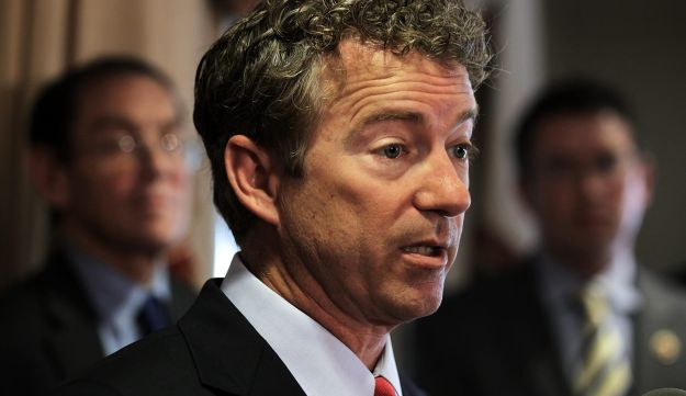 U.S. Senator Rand Paul speaks during a news conference in Washington, DC. June 13, 2013