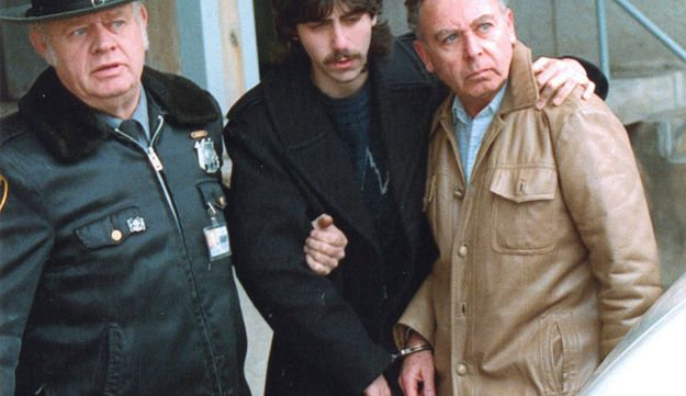 Jesse Friedman, center, and his father, Arnold, right, under arrest, May 1989