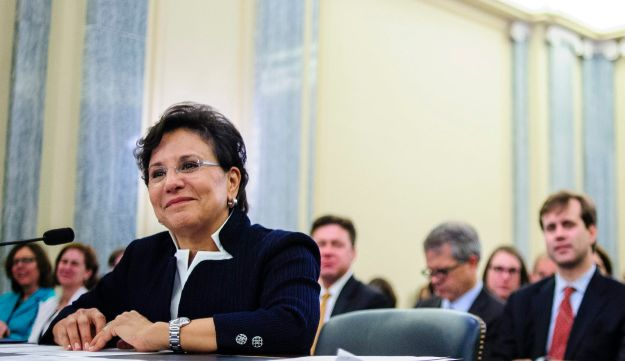 Chicago billionaire Penny Pritzker during a hearing on her nomination as Commerce secretary