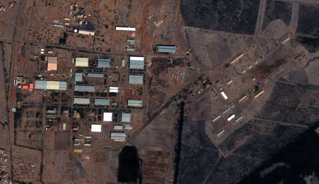 The Yarmouk military complex in Khartoum, Sudan seen in a satellite image made on Oct. 25 2012.