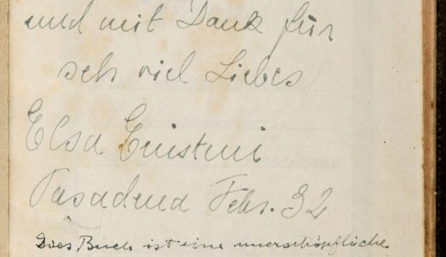 A Bible with an inscription from Albert Einstein, which sold at auction for $68,500.