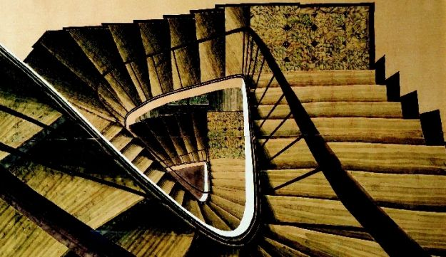 A Feeling of Vertigo: Stairways are prominently featured in the work of the artist Sam Szafran