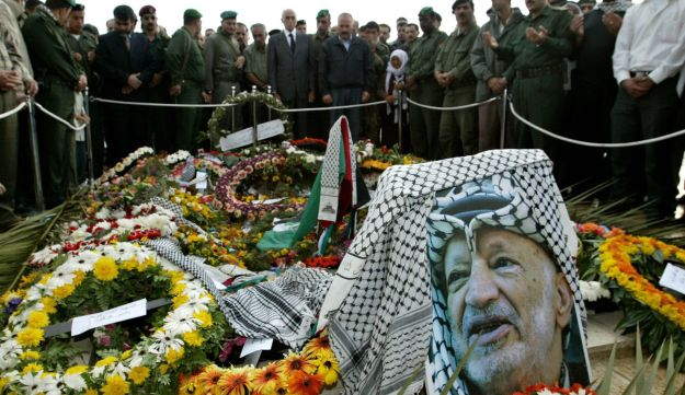 The grave of the late Palestinian President Yasser Arafat